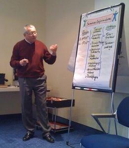 Dieter Rösner beim Training